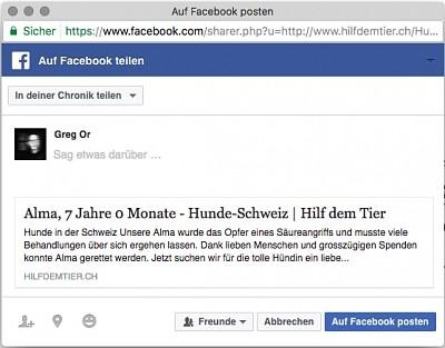 Facebook Vorschaubild wird nicht angezeigt?